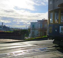 Riding Cable Car in San Francisco by David Denny