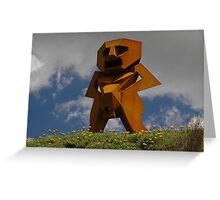 Rusty Man, Sculptures By The Sea, Australia 2010 Greeting Card