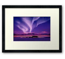 Northern Lights aurora borealis Framed Print