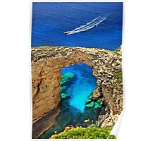 Rocky gate to the Ionian Sea Poster