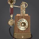 vintage telephone by sarandis