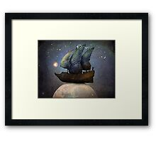 Sailing the Universe Framed Print