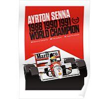 Ayrton Senna - World Champion Poster