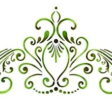 Princess Lace Ornament by Designerstencil