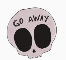 Go Away skull by KaliBlack