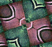 Geometric Diamonds Abstract Pattern by DFLC Prints