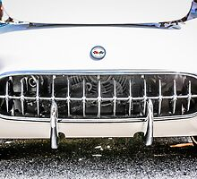White 50s Chevy Corvette Grill by Chris L Smith