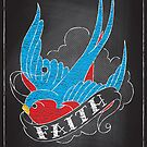 Chalk Board Tattoos - Faith by satansbrand