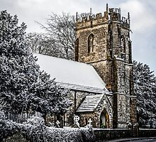 Snow covered Church by Chris L Smith