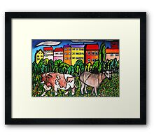 Cow Country Framed Print