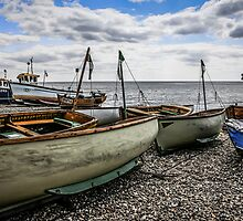 Beached Boats at Beer by Chris L Smith