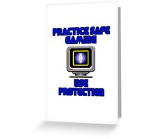 Use Protection Greeting Card