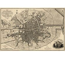 Antique Map of Dublin, Ireland from 1797 Photographic Print