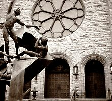 Westminster Presbyterian Church And Sculpture in Minneapolis Minnesota by Emily Rose