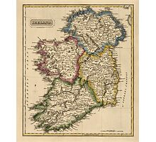 Antique Map of Ireland from c1817 Photographic Print