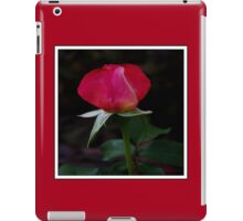 double delight rose bud (square) iPad Case/Skin