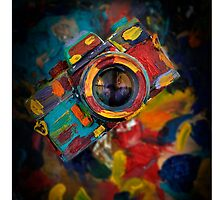 colorful photograph camera by laikaincosmos