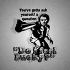 """""""Do i feel Lucky?"""" -Clint Eastwood (Dirty Harry) [white] by FanmadeStore"""