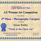 5th Place- Think In the Open Air by Susan Werby