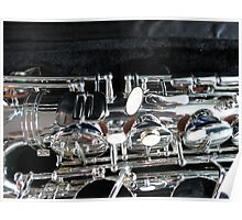 Silver Sax Poster