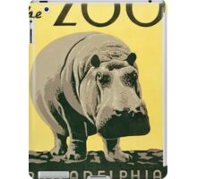 Visit the Zoo, Hippo iPad Case/Skin