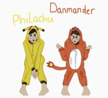 Danmander and Philachu by LittlePhilosaur