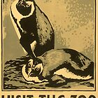 Visit the Zoo, Penguin Pair by Vintagee