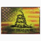 Don't Tread on Me Shirts & Sticker American Flag Background by 8675309