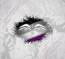 Buddhist The Eyes of the Buddha Asexual by LiveLoudGraphic