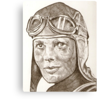 Amelia Earhart drawing Canvas Print