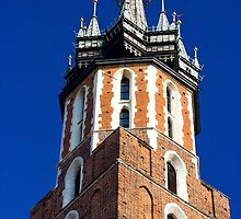 St. Mary's Church Tower by Patrycja Polechonska