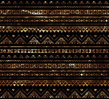Aztec Black Tinsel Gold by rapplatt