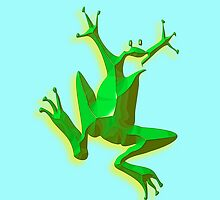 Jumpin' Green Frog by TOM HILL - Designer