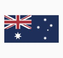 Australian Flag, Flag of Australia, Pure & simple by TOM HILL - Designer