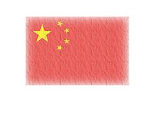 CHINESE FLAG FADED, CHINA FLAG FADED by TOM HILL - Designer