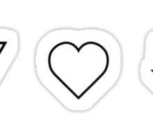The Neighbourhood Love Sticker