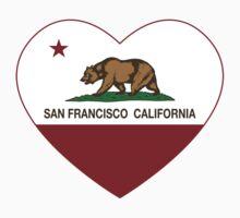 San Francisco California  Love Heart  Kids Clothes