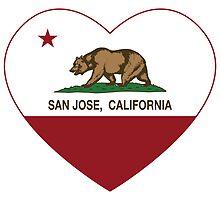 San Jose California Love Heart  by NorCal