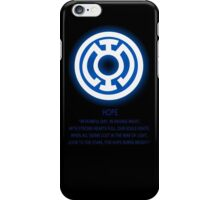 Blue Lantern Corps oath iPhone Case/Skin