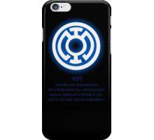 Blue Lantern Corps oath iPhone Case/Skin