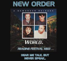 "New Order ""World (The Price Of Love)"" 1993 Republic design #1 by Shaina Karasik"