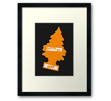 Fresh (Rad Orange) Framed Print