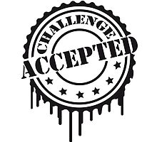 Challenge Accepted Cooler Stempel by Style-O-Mat