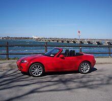 Red Mazda Miata in Niagara Falls by CadburyKeepsake