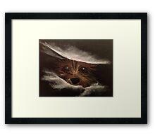 Cute Funny Yorkie Between Pillow Original Art Framed Print