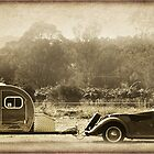 MG and Caravan by Clare Colins
