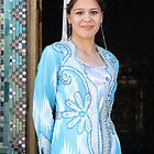 Blue Blushing Bride, Silk Road, Samarkand, Uzbekistan by Jane McDougall