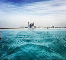 Abu Dhabi Skyline From Sea by aishalhajeri