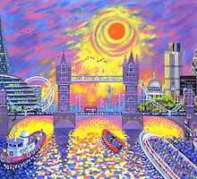 Sunset-Pool of London by wavynewt