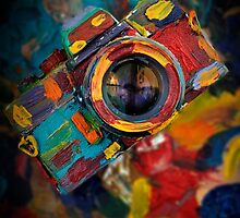 oil paint retro camera by laikaincosmos